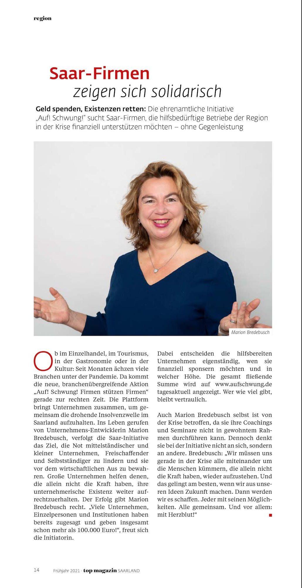 Beitrag Top Magazin Saarland 21