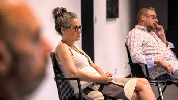 """Angelika Klein beim Auf! Schwung!-Workshop """"Raus aus der Resignation - rein in die Ideenvielfalt"""""""