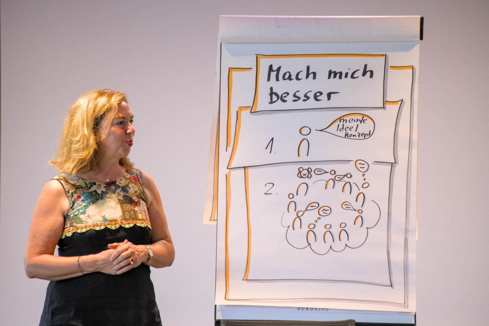 """Marion Bredebusch beim Auf! Schwung!-Workshop """"Raus aus der Resignation - rein in die Ideenvielfalt"""""""